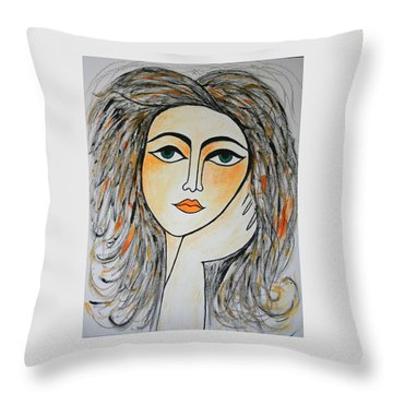 I Wonder And Ponder..... Throw Pillow