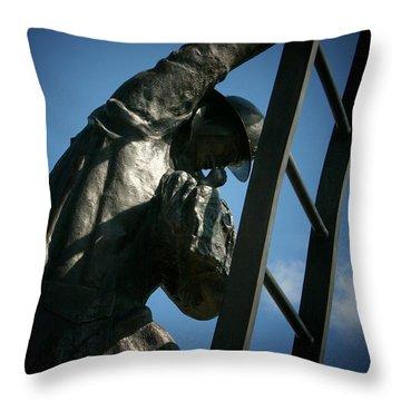 Iaff Fallen Firefighters Memorial  2 Throw Pillow by Susan  McMenamin