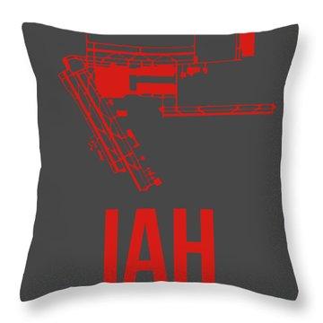 Iah Houston Airport Poster 1 Throw Pillow