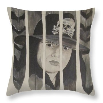 Ian Astbury Throw Pillow