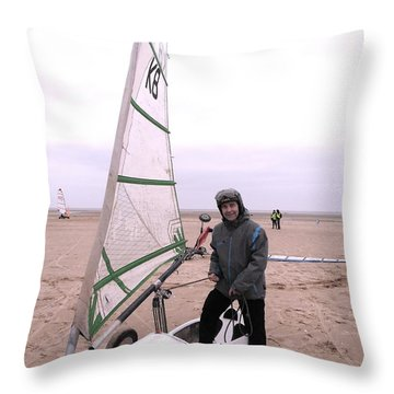 Ian Dibdin Dry Yacht Race Throw Pillow