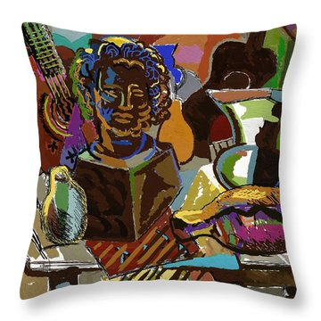 Throw Pillow featuring the digital art Iberia by Clyde Semler
