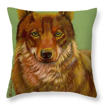 Canadian Red Wolf 2 Throw Pillow by Ruth Seal
