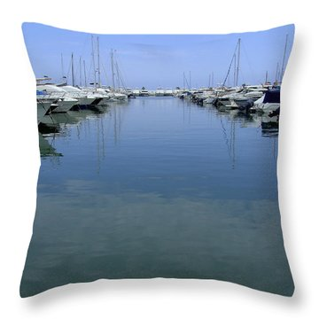 Ibiza Harbour Throw Pillow