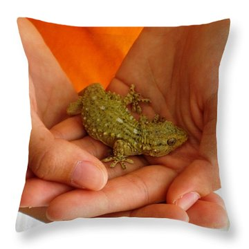 Ibizan Lizard Throw Pillow