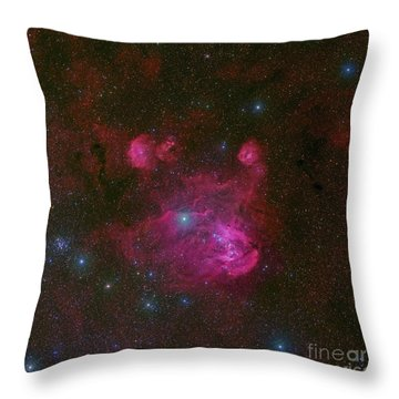 Ic 2944, A Large H II Region Throw Pillow by Robert Gendler