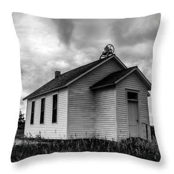 Icarian Schoolhouse Throw Pillow