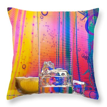 Ice-1 Throw Pillow by Mauro Celotti