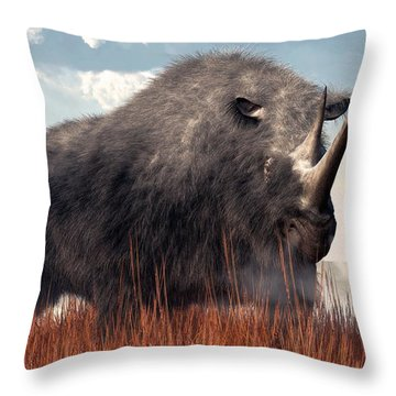Ice Age Rhino Throw Pillow