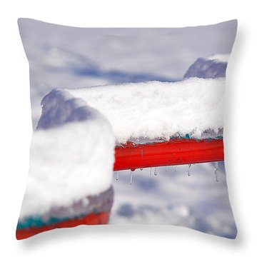 Ice And Snow-5621 Throw Pillow
