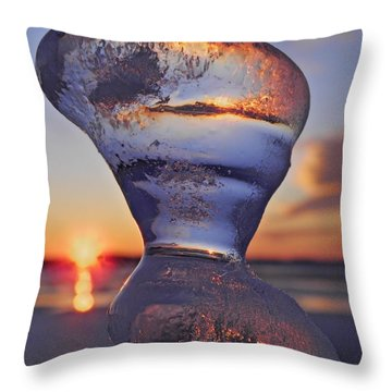Ice And Water 2 Throw Pillow