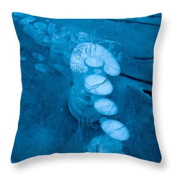 Ice Arrow Throw Pillow