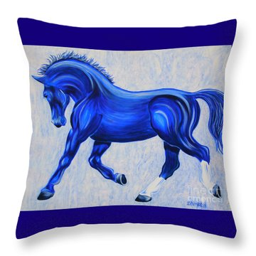 Ice Blue Throw Pillow