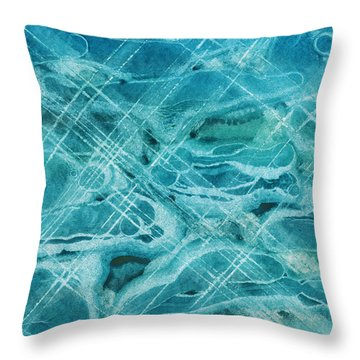 Ice Bubbles Throw Pillow