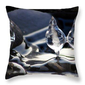 Ice Bulbs Throw Pillow
