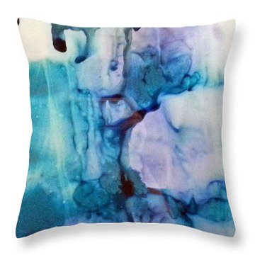 Ice Castles Throw Pillow by Susan Kubes