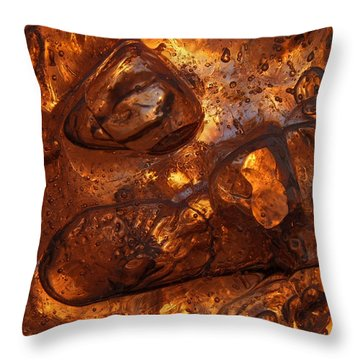 Ice Chocolate Throw Pillow
