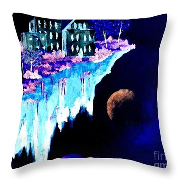 Ice City In Space Throw Pillow