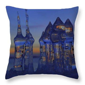 Ice City Throw Pillow