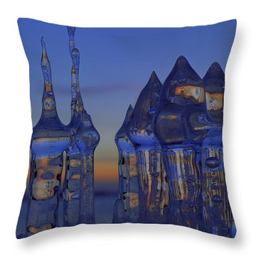 Ice City Throw Pillow