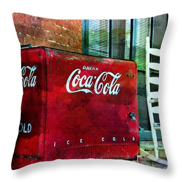 Ice Cold Coca Cola Throw Pillow