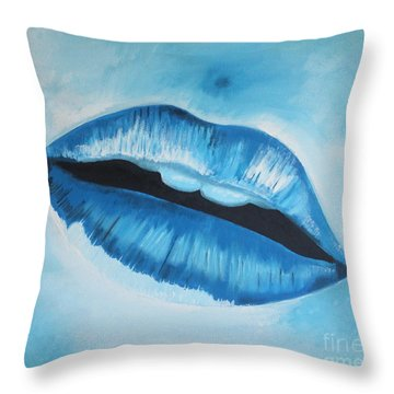 Ice Cold Lips Throw Pillow by Paul Horton