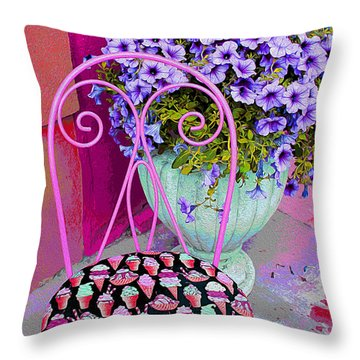 Ice Cream Cafe Chair Throw Pillow