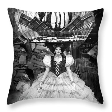 Throw Pillow featuring the photograph Ice Cream Headdress by Joseph Hollingsworth