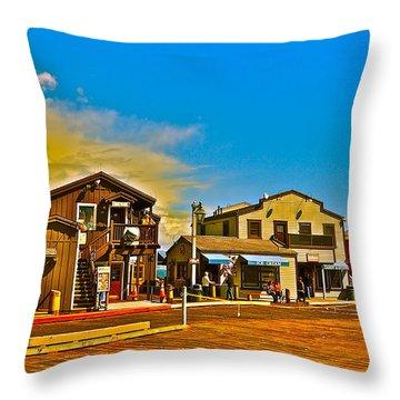 Ice Cream In Santa Barbara Throw Pillow