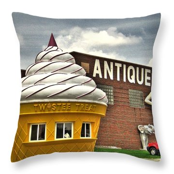 Ice Cream Throw Pillow by Jane Linders