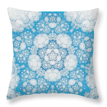 Throw Pillow featuring the digital art Ice Crystals by GJ Blackman