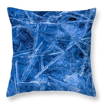 Ice Crystals Throw Pillow by Teri Virbickis
