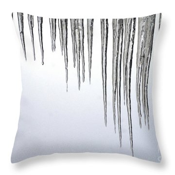 Ice Cycles Throw Pillow by Paul W Faust -  Impressions of Light