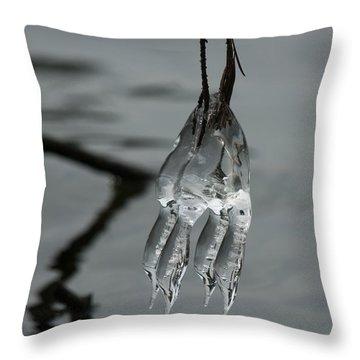 Ice Dance Throw Pillow by Lara Ellis