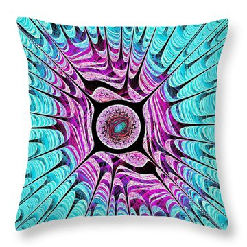 Ice Dragon Eye Throw Pillow