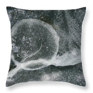 Ice Fishing Hole Throw Pillow by Steven Ralser