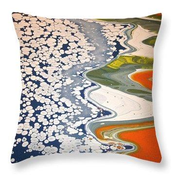 Ice Flow Throw Pillow