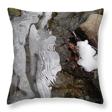 Ice Flow Throw Pillow by Robert Nickologianis