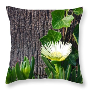 Ice Flower With Vine Throw Pillow
