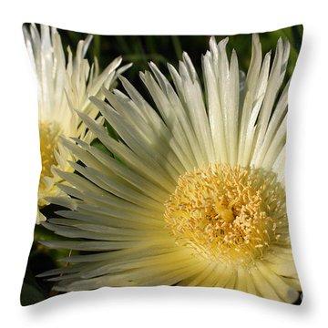 Ice Flowers Throw Pillow