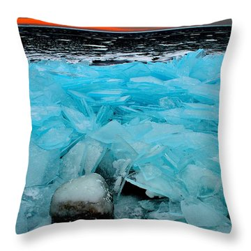 Ice Freeze # 2 - Horsey Bay - Kingston - Canada Throw Pillow
