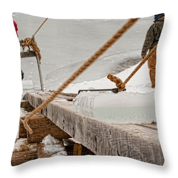 Ice Harvest Throw Pillow
