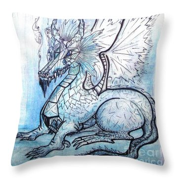 Ice Heart Throw Pillow by Koral Garcia