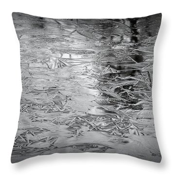 Ice In Triangles Throw Pillow