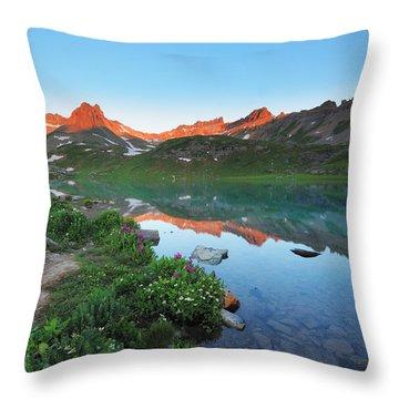 Ice Lake Sunrise Throw Pillow