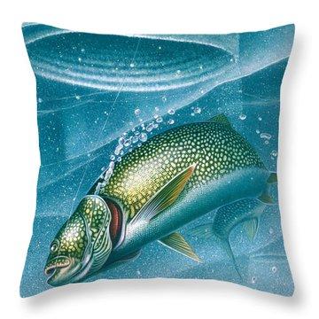 Ice Laker Throw Pillow by Jon Q Wright