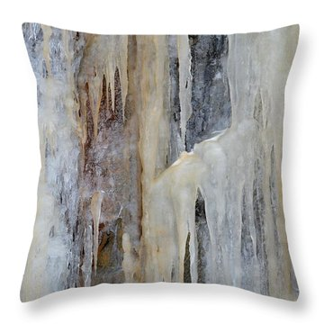Throw Pillow featuring the photograph Ice Layers 2  by Lyle Crump