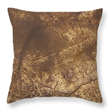 Ice Leaf Throw Pillow