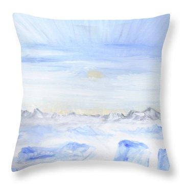 Ice Movement Throw Pillow