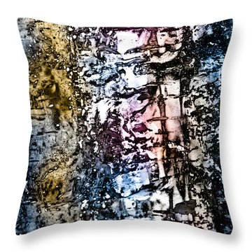 Ice Number Five Throw Pillow by Bob Orsillo